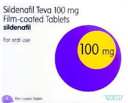Sildenafil Teva 100mg (PGD) 4 Tablets