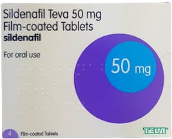 Sildenafil Teva 50mg 4 Tablets