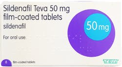 Sildenafil Teva 50mg 8 Tablets