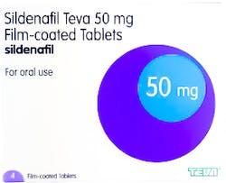 Sildenafil Teva 50mg (PGD) 4 Tablets