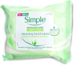 Simple Facial Wipes 25pc