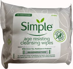 Simple Facial Wipes Age Resisting 25pcs