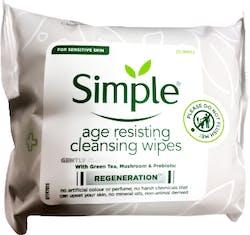 Simple Facial Wipes Age Resisting 25 Pack