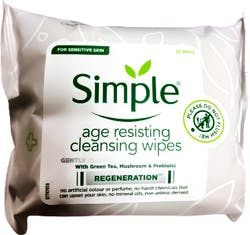 Simple Facial Wipes Age Resisting 25pcs