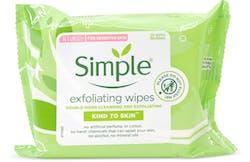 Simple Kind to Skin Exfoliating Wipes 25 wipes