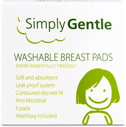 Simply Gentle Washable Brest Pads 6 Pads