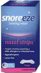 Snoreeze Snoring Relief 10 Nasal Strips Large