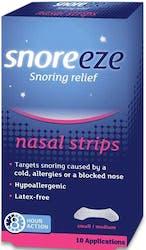 Snoreeze Snoring Relief 10 Nasal Strips S/M