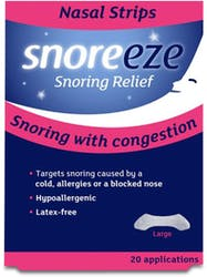 Snoreeze Snoring Relief Nasal Strips Large 20 Pack