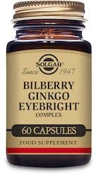 Solgar Bilberry Ginkgo Eyebright Complex 60 Capsules