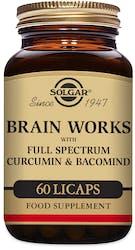 Solgar Brain Works with Full Spectrum Curcumin & Bacomind 60 Caps