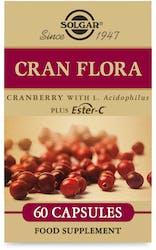Solgar Cran Flora Cranberry with L. Acidophilus Plus Ester-C 60 Capsules