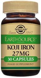 Solgar Earth Source Food Fermented Koji Iron 27mg 30 Capsules