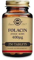 Solgar Folacin (Folic Acid) 400µg 250 Tablets