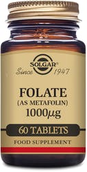 Solgar Folate 1000g (as Metafolin) 60 Tablets