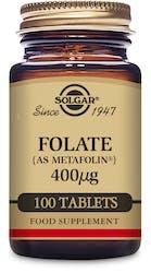 Solgar Folate 400 mcg (as Metafolin) 100 Tablets