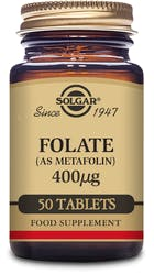 Solgar Folate 400µg (as Metafolin) 50 Tablets