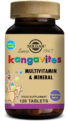 Solgar Kangavites Childrens vitamins (Bouncing Berry) 120 Chewable Tablets
