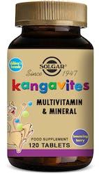 Solgar Kangavites Childrens vitamins (Bouncing Berry) 120 Chewable Tablets
