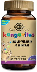 Solgar Kangavites Complete Multivitamin & Mineral Formula for Children (Bouncing Berry) 60 Chewable Tablets