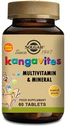Solgar Kangavites Complete Multivitamin & Mineral  Formula for Children (Tropical Punch) 60 Chewable Tablets