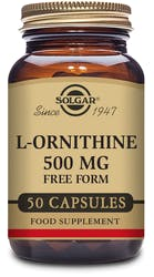 Solgar L-Ornithine 500 mg 50 Capsules