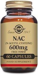 Solgar NAC (N-Acetyl Cysteine) 600mg 60 Capsules