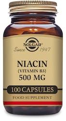 Solgar Niacin (Vitamin B3) 500 mg 100 Capsules