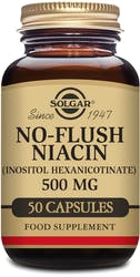 Solgar No-Flush Niacin (Inositol Hexanicotinate) 500mg  50 Capsules