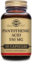 Solgar Pantothenic Acid 550 mg 50 Capsules