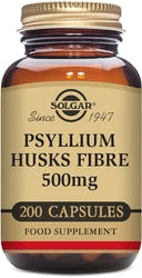 Solgar Psyllium Husks Fibre 500mg Vegetable Capsules 200s