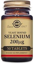 Solgar Selenium 200 µg (Yeast Bound) 50 Tablets