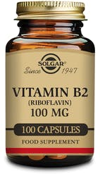 Solgar Vitamin B2 (Riboflavin) 100 mg 100 Capsules