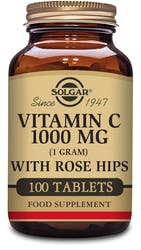 Solgar Vitamin C 1000 mg with Rose Hips 100 Tablets