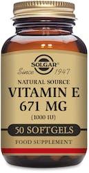 Solgar Vitamin E 671 mg (1000 IU) 50 Softgels