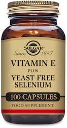 Solgar Vitamin E with Yeast Free Selenium 100 Capsules