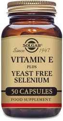 Solgar Vitamin E with Yeast Free Selenium 50 Capsules