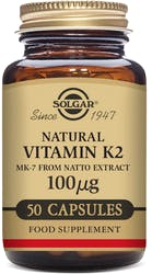 Solgar Vitamin K2 100µg 50 Vegetable Capsules