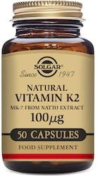 Solgar Vitamin K2 100ug 50 Vegetable Capsules