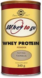Solgar Whey To Go Protein Powder (Vanilla) 340g Powder