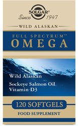 Solgar Wild Alaskan Full Spectrum Omega Softgels 120s