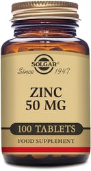 Solgar Zinc 50mg 100 Tablets