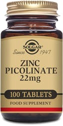Solgar Zinc Picolinate 22 mg 100 Tablets
