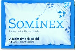 Sominex A Night Time Sleep Aid 16 Tablets