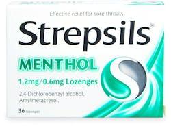 Strepsils Menthol 36 Lozenges