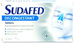 Sudafed Decongestant Tablets 12