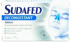 Sudafed Decongestant Tablets 12