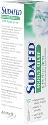 Sudafed Mucus Relief Spray 15ml