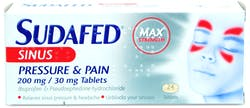 Sudafed Pressure and pain Tablets 24