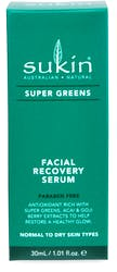 Sukin Super Greens Recovery Serum 30ml